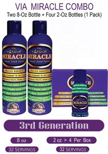 Picture of Via Miracle   Two -  8oz Bottles    Four - 2oz Bottles(4 Bottles per Pack)@ M